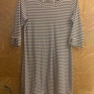 EUC Simply Noelle striped dress in navy/white